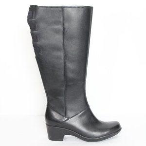 Clarks Knee High Boots 6.5 M New Women Black
